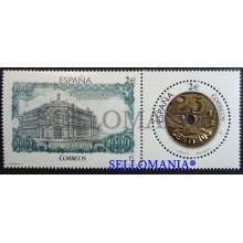 2016 NUMISMATICA NUMISMATICS BILLETE 1000 PTAS BANKNOTE MONEDA 25 CENTS COIN ED. 5101 / 02 ** MNH TC20463