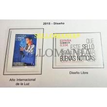 2015 DISELLO AÑO INTERNACIONAL DE LA LUZ EDIFIL 4940 / 41 ** MNH LIGHT   TC20474