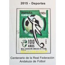 2015 DEPORTES CENTENARIO FEDERACION ANDALUZA FUTBOL EDIFIL 4950 ** MNH   TC20478