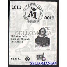 2015 400 AÑOS CASA DE LA MONEDA EDIFIL PRUEBA OFICIAL 124 ** MNH   UCEDA TC20499