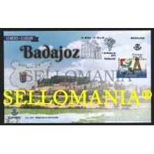 2019 BADAJOZ 12 MONTHS 12 STAMPS JAMON QUESO VINO WINE CHEESE SPD FDC TC22529