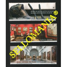 2019 MUSEOS MUSEUMS BELLAS ARTES DE BILBAO SOROLLA PRADO MADRID ** MNH TC22549