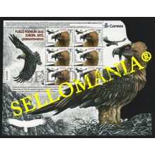 2019 EUROPA EUROPE QUEBRANTAHUESOS BEARDED VULTURE PLIEGO PREMIUM ** MNH TC22560