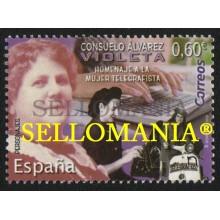 2019 CONSUELO ALVAREZ ESCRITORA TELEGRAFISTA WRITER TELEGRAPHIST  ** MNH TC22562