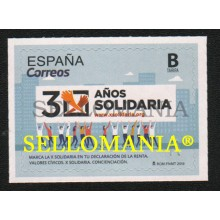 2019 X SOLIDARIA CONCENCIACION CHARITABLE AWARENESS CIVIC VALUES ** MNH TC22581