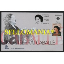 2019 MONTSERRAT CABALLE CANTANTE OPERA SINGER SPD FDC TC22588