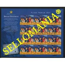 2017 30 ANIVERSARIO BECAS ERASMUS SCHOLARSHIPS FLAGS EU UE PLIEGO PREMIUM 54  5168 ** MNH TC22640