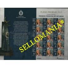 2015 PREMIOS PRINCESA DE ASTURIAS DOÑA LEONOR PLIEGO PREMIUM 4998 ** MNH TC22653