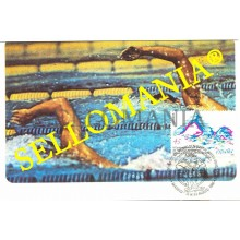TARJETA MAXIMA NATACION SYNCHRONIZED SWIMMING JUMPS MAXIMUM CARD  TC22658