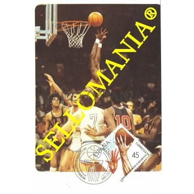 TARJETA MAXIMA BALONCESTO BASKETBALL BASKET BALON BALL  MAXIMUM CARD TC22659
