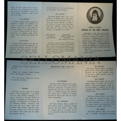 OLD BLESSED SAINT RAPHAELA MARY SACRED HEART HOLY CARD ANDACHTSBILD SANTINI C205