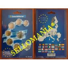 SET 8 CAPSULAS PARA SERIE EUROS CURSO LEGAL CALIDAD MAXIMA PROTECCION LEUCHTTURM  TC22792