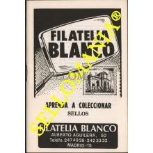 APRENDA A COLECCIONAR SELLOS FOLLETO EXPLICATIVO 1979 FILATELIA BLANCO  TC22774