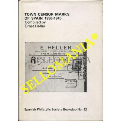 CENSOR MARKS SPAIN CIVIL WAR 1936 1939 MARCAS CENSURA GUERRA CIVIL ERNST HELLER  TC22782