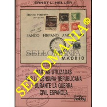 MARCAS CENSURA REPUBLICANA GUERRA CIVIL ESPAÑOLA 1936 1939 CATALOGO ERNST HELLER  TC22786