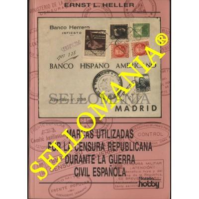MARCAS CENSURA REPUBLICANA GUERRA CIVIL ESPAÑOLA 1936 1939 CATALOGO ERNST HELLER  TC22786