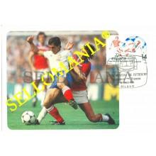 TARJETA MAXIMA INGLATERRA FRANCIA FUTBOL WORD FOOTBALL CUP MAXIMUM CARD TC22666