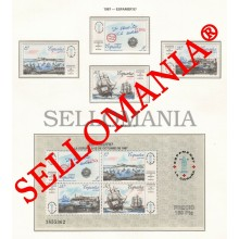 1987 ESPAMER SHIPS BARCOS CORUÑA PORT PUERTO 2916  MNH ** SHEET HB TC22814 UK