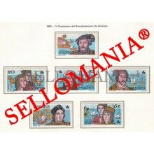 1987 AMERICA AMERIGO VESPUCCI COLOMBUS COLON 2919 / 24 MNH ** TC22816 UK