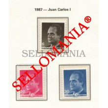 1987 JUAN CARLOS I ROI ESPAGNE KING SPAIN ESPAÑA 2877 / 79 MNH ** TC22800 FR