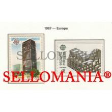 1987 EUROPE EUROPA ARCHITECTURE BBVA MUSEUM ROMAN 2904 / 05 MNH ** TC22808 FR