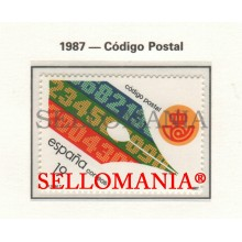 1987 CODE POSTAL CODE CODIGO POSTAL PEN WTRITING  2906 MNH ** TC22809 FR