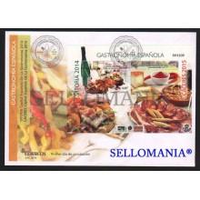 2015 GASTRONOMIA ESPAÑOLA VITORIA Y CACERES EDIFIL 4942 SPD FDC FOOD     TC20537