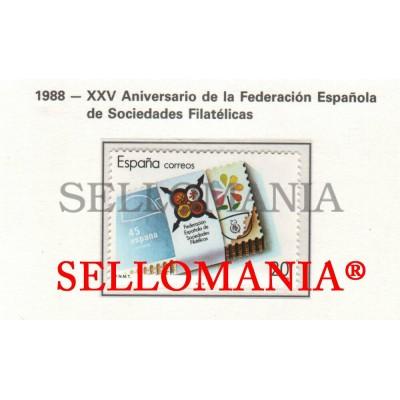 1988 FEDERATION PHILATELIC SOCIETIES FESOFI  2962 MNH ** TC22838 FR
