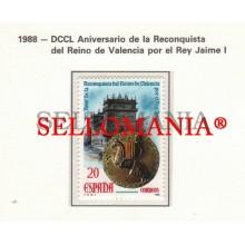 1988 RECONQUEST RECONQUISTA REINO DE VALENCIA RECONQUÊTE JAIME I KING ROI  2967 MNH ** TC22839 FR