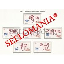 1988 HERNAN CORTES MAGALLANES ELCANO NUÑEZ DE BALBOA PIZARRO URDANETA DESCUBRIMIENTO DE AMERICA 2969 / 74 MNH ** TC22841 FR