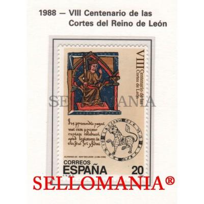 1988 PARLAMENT LEON COURS COURTS CORTES ALFONSO IX CORTES REINO DE LEON  2961 MNH ** TC22836 FR