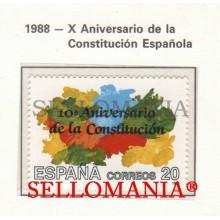 1988 ANNIVERSARY CONSTITUTION CONSTITUCION  2982  MNH ** TC22846 FR