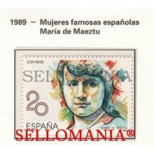 1989 MARIA DE MAEZTU WHITNEY FEMINIST EDUCATOR LYCEUM  2989 MNH ** TC22852 FR