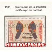 1989 POSTE POSTAL CORPS PORTEFEUILLE POSTMAN CARTERO 2998 MNH ** TC22855 FR