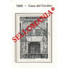 1989 FAÇADE FACADE FACHADA CASA DEL CORDON BURGOS 3000 MNH ** TC22857 FR