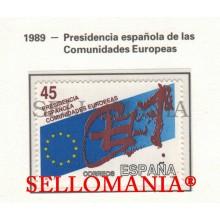 1989 PRESIDENCY EUROPEAN UNION EUROPEA PRESIDENCE  3010 MNH ** TC22860 FR