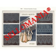 1989 SPANISH CRAFT BOBBIN LACE DENTELLE BOULES 3016 / 21 MNH ** TC22864 FR