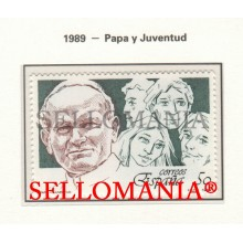1989 POPE JOHN PAUL II PAPE PAPA JUAN PABLO II 3022 MNH ** TC22865 FR