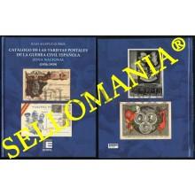 CATALOGO TARJETAS POSTALES DE LA GUERRA CIVIL ESPAÑOLA ZONA NACIONAL 1936 - 1939