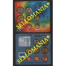 CARTERA OFICIAL 2003 MONEDAS EURO SIN CIRCULAR FNMT 8 MONEDAS ESPAÑA TC23628