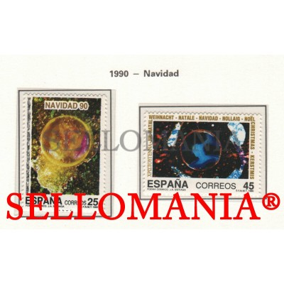 1990 NOËL CHRISTMAS NAVIDAD SUN SPACE EARTH 3084 / 86 MNH ** TC22893 FR