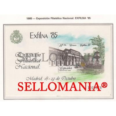 1985 EXFILNA 85 SALON DEL PRADO HB SHEET EDIFIL 2814 ** MNH MUSEUM       TC11732
