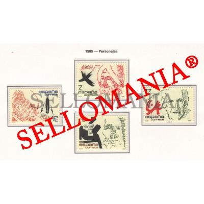 1985 PERSONAJES VICENTE ALEIXANDRE TERRADAS LEON EDIFIL 2806/09 ** MNH   TC11729