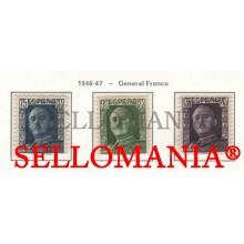 1946 - 1947  GENERAL FRANCO EDIFIL 999 / 1001 ** MNH LUJO LUXE TC23474