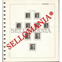 SUPLEMENTO EDIFIL AÑOS 1981 / 83  SELLOS ESPAÑA MONTADO ESTUCHES TRANSPARENTES  TC23506