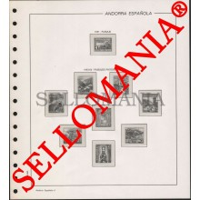 SUPLEMENTO FILABO 1951 - 1988  ANDORRA ESPAÑOLA MONTADO ESTUCHES TRANSPARENTES  TC23516