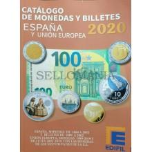 CATALOGO EDIFIL MONEDAS Y BILLETES ESPAÑA Y UNION EUROPEA EDICION 2020   TC23658