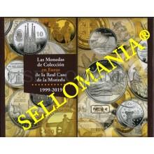 CATALOGO MONEDAS DE COLECCION EUROS FNMT REAL CASA DE LA MONEDA  1999 - 2019    TC23659