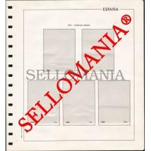 SUPLEMENTO EDIFIL AÑOS 1977 / 78 BLOQUE 4 SELLOS ESPAÑA MONTADO EN TRANSPARENTE  TC23586