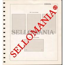 SUPLEMENTO EDIFIL AÑOS 1979 / 80 BLOQUE 4 SELLOS ESPAÑA MONTADO EN TRANSPARENTE  TC23587